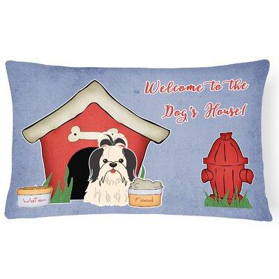 Wildlife Dog House Contemporary Indoor/Outdoor Lumbar Pillow Color: Black/White