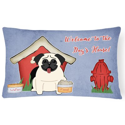 Dog House Rectangle Indoor/Outdoor Lumbar Pillow Color: Cream