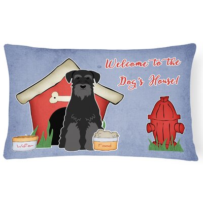 Dog House Soild Rectangle Indoor/Outdoor Heavyweight Canvas Lumbar Pillow Color: Black
