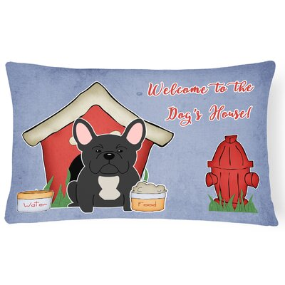 Dog House Contemporary Rectangle Indoor/Outdoor Lumbar Pillow Color: Black