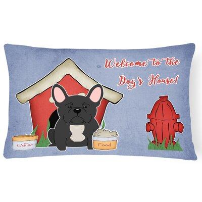 Dog House Indoor/Outdoor Lumbar Pillow Color: Black