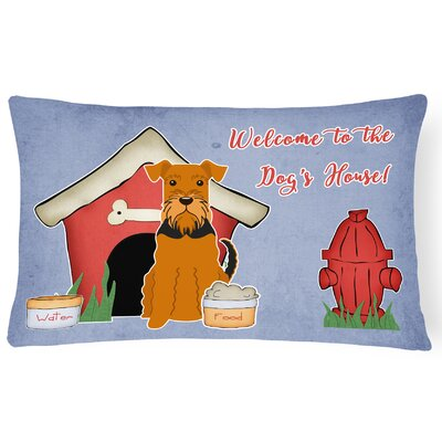 Dog House Modern Soild Rectangle Indoor/Outdoor Fabric Lumbar Pillow