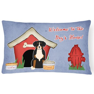 Dog House Contemporary Soild Indoor/Outdoor Lumbar Pillow