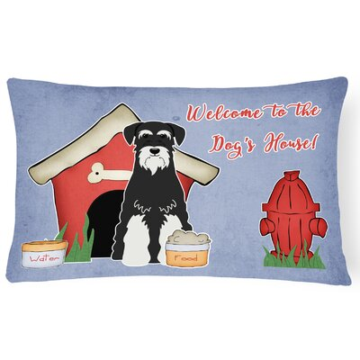 Dog House Soild Rectangle Indoor/Outdoor Heavyweight Canvas Lumbar Pillow Color: Salt/Pepper