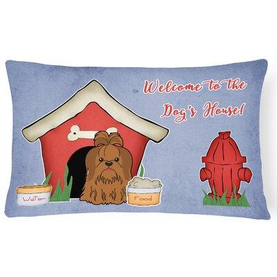 Wildlife Dog House Contemporary Indoor/Outdoor Lumbar Pillow Color: Silver/Chocolate