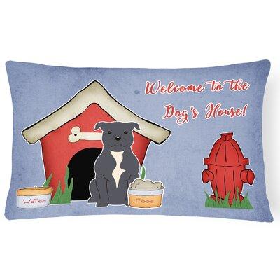 Dog House Handmade Rectangle Indoor/Outdoor Heavyweight Canvas Lumbar Pillow Color: Blue