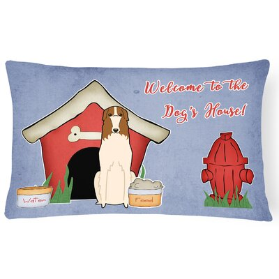 Dog House Modern Indoor/Outdoor Heavyweight Canvas Lumbar Pillow