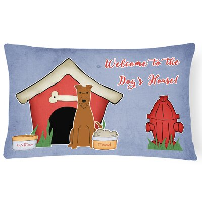 Dog House Indoor/Outdoor Graphic Print Heavyweight Canvas Lumbar Pillow
