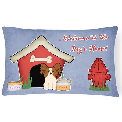 Wildlife Dog House Indoor/Outdoor Lumbar Pillow Color: Brown