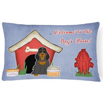 Wildlife Dog House Handmade Indoor/Outdoor Fabric Lumbar Pillow Color: Black/Tan