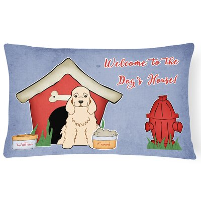 Dog House Indoor/Outdoor Lumbar Pillow Color: Buff