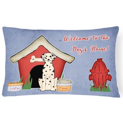 Dog House Modern Purple/Red Indoor/Outdoor Lumbar Pillow