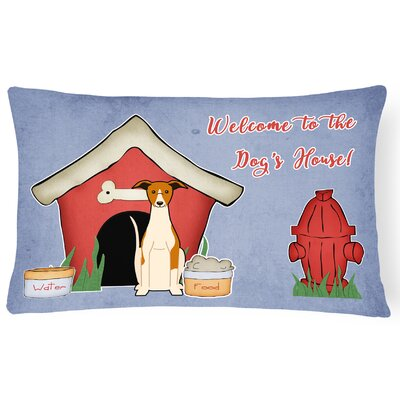 Dog House Rectangle Indoor/Outdoor Fabric Lumbar Pillow