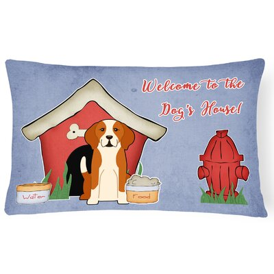 Dog House Contemporary Handmade Indoor/Outdoor Lumbar Pillow