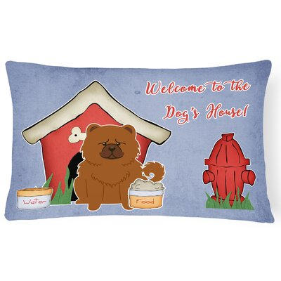 Dog House Modern Indoor/Outdoor Graphic Print Lumbar Pillow Color: Red
