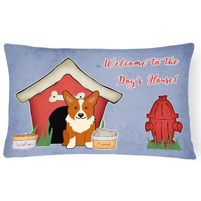 Dog House Contemporary Indoor/Outdoor Fabric Lumbar Pillow