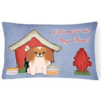 Wildlife Dog House Solid Indoor/Outdoor Lumbar Pillow Color: Red/White