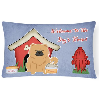 Dog House Modern Indoor/Outdoor Graphic Print Lumbar Pillow Color: Cream