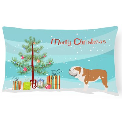 English Bulldog Indoor/Outdoor Lumbar Pillow