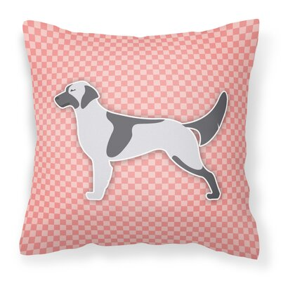 English Setter Indoor/Outdoor Throw Pillow Size: 18 H x 18 H x 3 D, Color: Pink