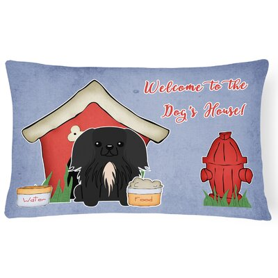 Black Dog House Indoor/Outdoor Lumbar Pillow