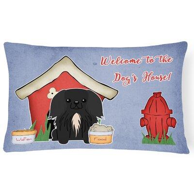 Black Dog House Indoor/Outdoor Lumbar Pillow