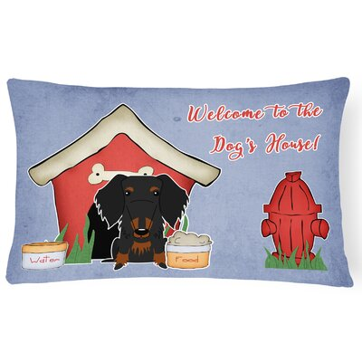 Wildlife Dog House Soild Rectangle Indoor/Outdoor Lumbar Pillow Color: Black/Tan