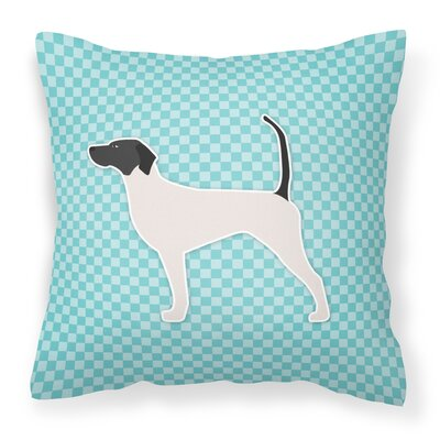 English Pointer Indoor/Outdoor Throw Pillow Size: 18 H x 18 H x 3 D, Color: Green