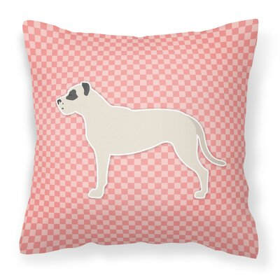 Dogo Argentino Indoor/Outdoor Throw Pillow Size: 18 H x 18 H x 3 D, Color: Pink