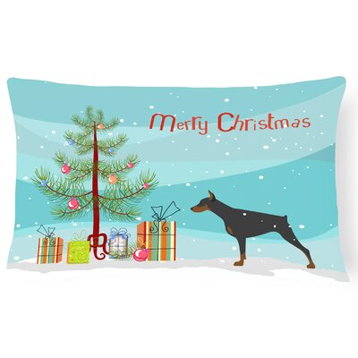 Doberman Pinscher Indoor/Outdoor Lumbar Pillow