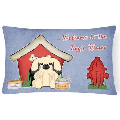 Wildlife Dog House Handmade Indoor/Outdoor Heavyweight Canvas Lumbar Pillow Color: Cream
