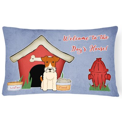 Dog House Modern Indoor/Outdoor Fabric Lumbar Pillow