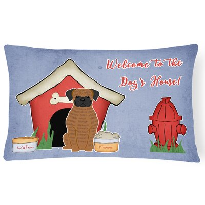 Dog House Modern Handmade Indoor/Outdoor Fabric Lumbar Pillow