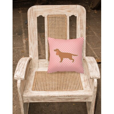 English Cocker Spaniel Indoor/Outdoor Throw Pillow Size: 14 H x 14 W x 3 D, Color: Pink