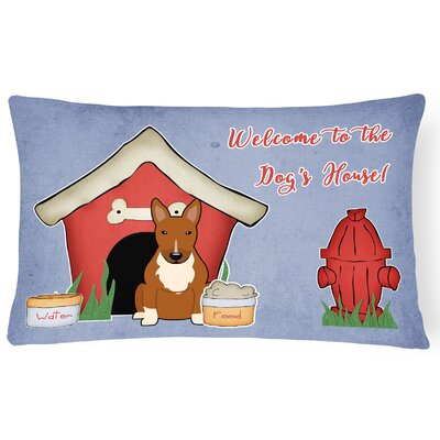 Wildlife Dog House Indoor/Outdoor Graphic Print Lumbar Pillow Color: Red