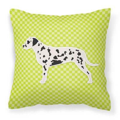 Dalmatian Indoor/Outdoor Throw Pillow Size: 14 H x 14 W x 3 D, Color: Green