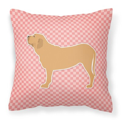 Fila Brasileiro Indoor/Outdoor Throw Pillow Size: 14 H x 14 H x 3 D, Color: Pink