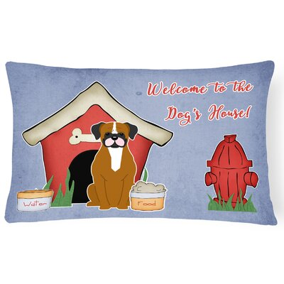 Wildlife Dog House Solid Indoor/Outdoor  Heavyweight Canvas Lumbar Pillow Color: Flashy Fawn