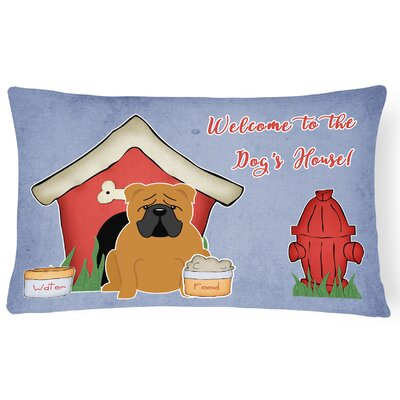 Wildlife Dog House Soild Handmade Indoor/Outdoor Lumbar Pillow Color: Red