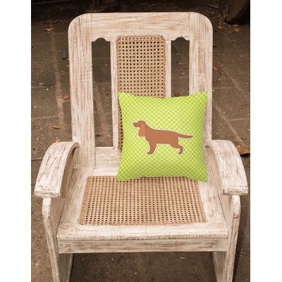 English Cocker Spaniel Indoor/Outdoor Throw Pillow Size: 14 H x 14 W x 3 D, Color: Green