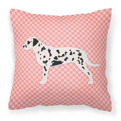 Dalmatian Indoor/Outdoor Throw Pillow Size: 18 H x 18 W x 3 D, Color: Pink