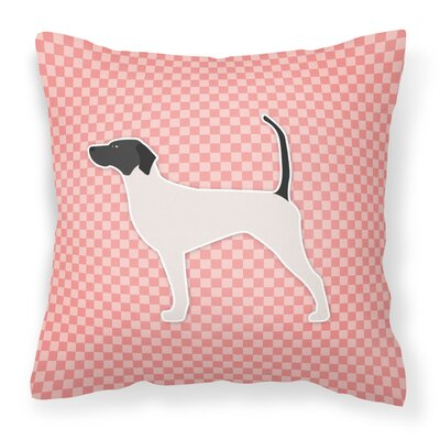 English Pointer Indoor/Outdoor Throw Pillow Size: 14 H x 14 H x 3 D, Color: Pink