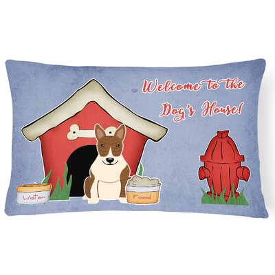Dog House Rectangle Indoor/Outdoor Graphic Print Lumbar Pillow Color: Brown