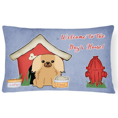 Dog House Indoor/Outdoor Lumbar Pillow Color: Fawn/Sable