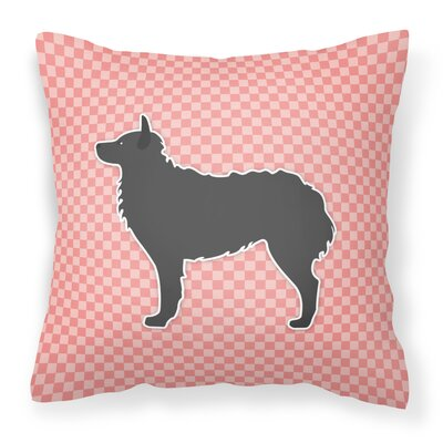 Croatian Sheepdog Indoor/Outdoor Throw Pillow Size: 18 H x 18 W x 3 D, Color: Pink