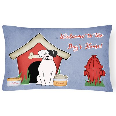 Wildlife Dog House Solid Indoor/Outdoor  Heavyweight Canvas Lumbar Pillow Color: White/Cooper