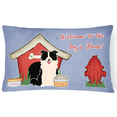 Dog House Indoor/Outdoor Lumbar Pillow Color: Black/White