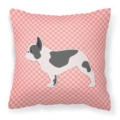 French Bulldog Indoor/Outdoor Throw Pillow Size: 18 H x 18 H x 3 D, Color: Pink
