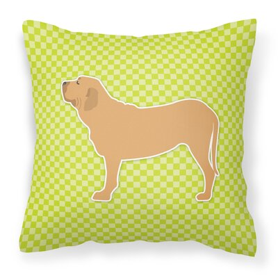 Fila Brasileiro Indoor/Outdoor Throw Pillow Size: 18 H x 18 H x 3 D, Color: Green