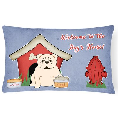 Wildlife Dog House Soild Handmade Indoor/Outdoor Lumbar Pillow Color: White